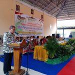 Asisten II Setda OKU Timur Ir M Husin saat memberikan arahan musrembang RKPD Kabupaten di Kecamatan tahun 2021 Zona 4.