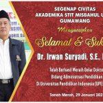 Dr Irwan Suryadi SE M