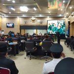 SUASANA : Tampak foto Suasan Kegiatan Rapat di Ruangan DPRD OKU TImur