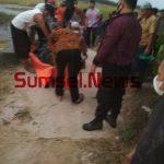 Warga Desa Rejosari Rt 001 Rw 001, Belitang Mulya OKU Timur, dihebohkan penemuan mayat dalam sier persawahan