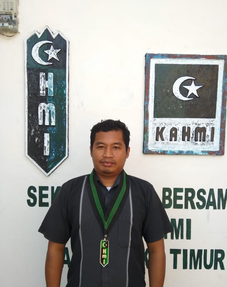 Wahid Zakaria Ketua Bidang Partisipasi Pembangunan Daerah HMI Cabang OKU Timur