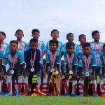 SSB OKU Timur U-12 berhasil meraih Runner Up pada Test Event U-12 Liga Sriwijaya FC, di Stadion Atletik Jakabaring Sport City Palembang.(foto/ist)