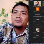 Peserta Pelatihan Menulis Berita yang digelar Bawaslu Kabupaten Tanggerang, secara virtual via zoom, Senin (30/8/2021)