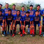 Tampak Martapura FC U-15 berfose sebelum bertanding.